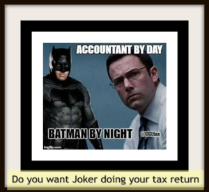 Joker doing your accounting is not a key hire accountant